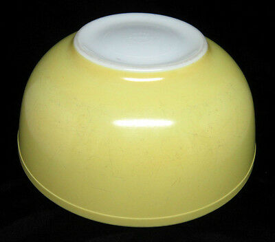 Vintage PYREX 404 Yellow PRIMARY COLOR Four (4) Qt MIXING/NESTING Glass Bowl