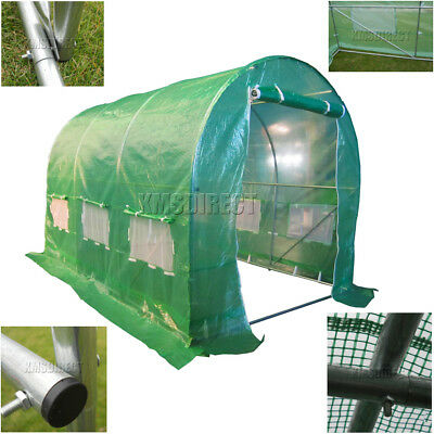 3m x 2m Polytunnel Greenhouse Pollytunnel Poly Tunnel Fully Galvanised Frame