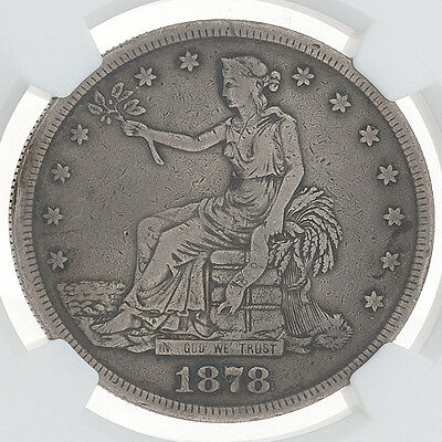 1878-S Trade Dollar NGC Certified VF Details.