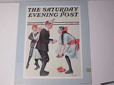 Sepco Norman Rockwell Unframed Sat Evening Post Print Pardon Me