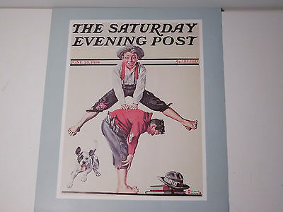 Sepco Norman Rockwell Unframed Sat Evening Post Print Leapfrog
