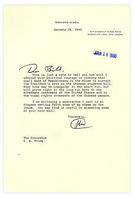 Richard Nixon Typed Letter Signed to Congressman