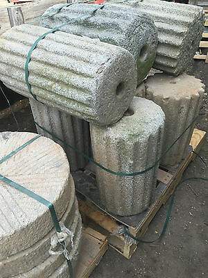 Japanese garden granite Antique stone roller Millstone fountain