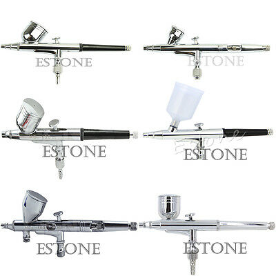 0.2/0.3/0.35/0.5mm Dual Action Gravity Feed Spray Gun Set Tattoo Tools Airbrush