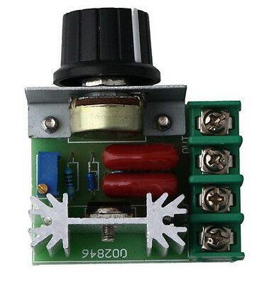 1Pc 220V 2000W Speed Controller SCR Voltage Regulator Motor Dimmers Thermostat