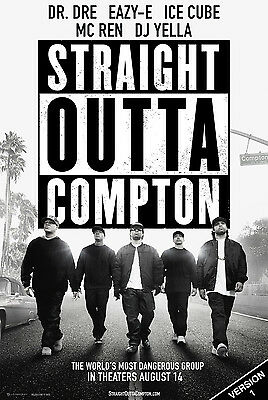 NWA Straight Outta Compton Poster | 6 Versions | Dre Ice Cube Eazy-E LP CD Frame