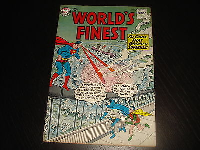 WORLD'S FINEST #115  Batman Superman Silver Age DC Comics 1961 FN/VF nice!