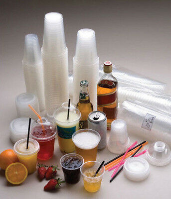 1000pc CLEAR PP PLASTIC COLD DRINKING CUPS 425ML 15OZ bulk new disposable cater