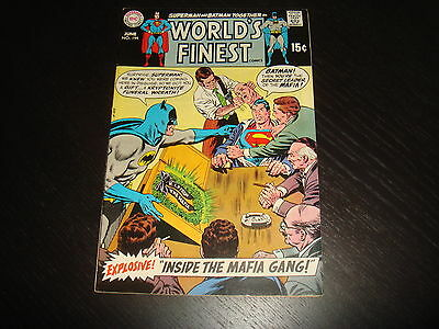 WORLD'S FINEST #194 Superman Batman DC Comics 1970 High Grade VF