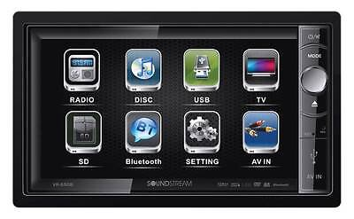 """Soundstream Double Din VR-650B DVD/CD/SD Player 6.5"""" Motorized Display Bluetooth"""