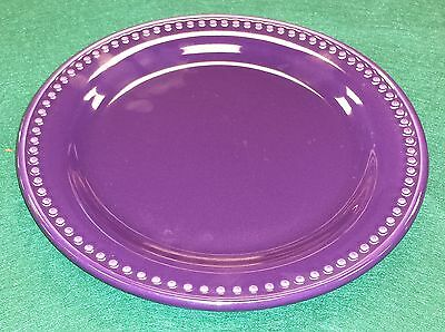 Henn Pottery Amethyst Eggplant Purple Jewelware Dinner Plate 10 inch  ( #PUR101)