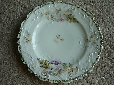 Beautiful Antique Wall Plate/ Ls&s, Carlsbad Austria/white,pink&purple Floral