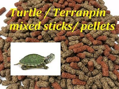 100G to 5KG TURTLE /TERRAPIN FOOD FEED STICKS /PELLETS FLOATING A1 QUALITY+VALUE