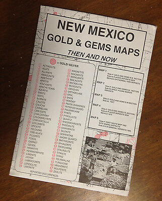 NEW MEXICO Gold & Gems Maps Then and Now LOCATE Minerals Fossils