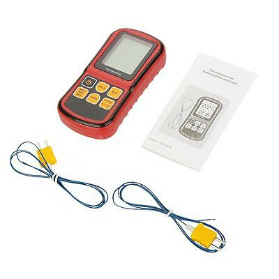 GM1312 Digital Thermometer 2channel Temperature Meter Tester for Thermocouple TM