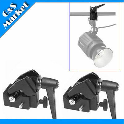 2PCS Photography Photo Studio Multi-function Super Clamp Studio Clamp