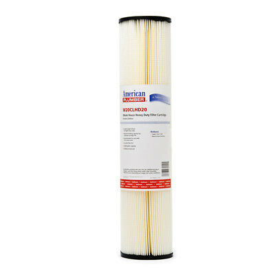 American Plumber W20CLHD20 20 Micron 20x4.5 Whole House Pleated Sediment Filter