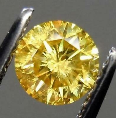 Dazzling Canary Yellow Sapphire 10 Carats 12mm Loose Gemstone Simulated