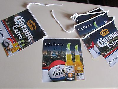 NEW Corona Extra Light Clippers Los Angeles Basketball String Banner T30