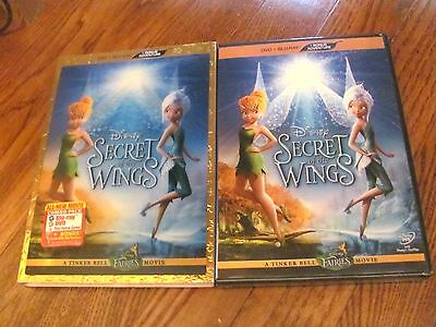 Secret of the Wings: Disney ( 2 Disc DVD+Blu-ray 2012) Slipcover; I Ship Fast