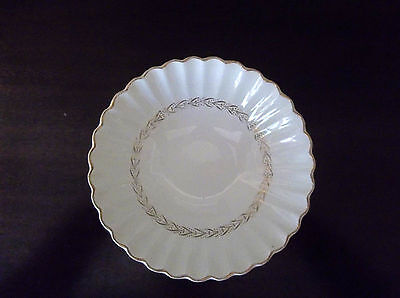 J & G Meakin Classic White Garland Gold Laurel Coupe Cereal Bowl (s) England