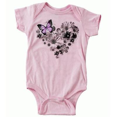 Metal Mulisha Body / Strampler Girls FLOWER HEART ONESIE - CRYSTAL-PINK