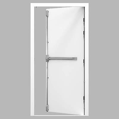 High Security Steel Fire Exit Door Set with 3 Point Panic Fire Exit Push Bar