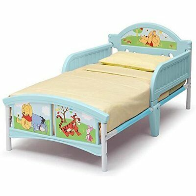Delta Children Winnie the Pooh Toddler Bed, Kids Bed With Side Guards By Delta