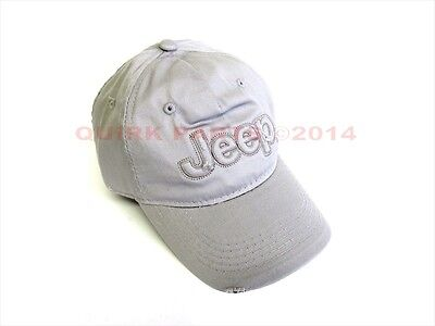 """Jeep Light Gray Hat Cap With """"jeep"""" Logo Premium Quality Material & Stitch New"""
