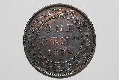 An 1882 H Damaged Obverse Canada One Cent Piece That Grades Extra Fine (CA510)