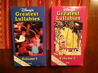 Disney's Greatest Lullabies VHS Volumes 1 and 2 SET  RARE!