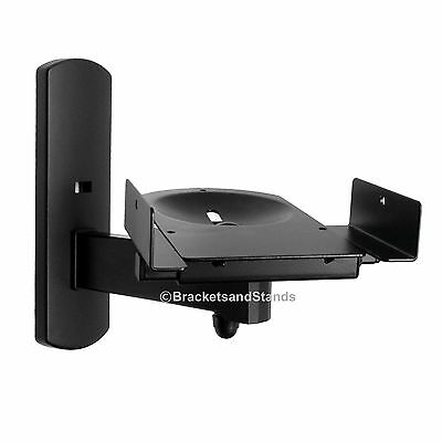 Side Clamping Bookshelf Monitor Speaker Wall Mounts Bracket for Surround Sound