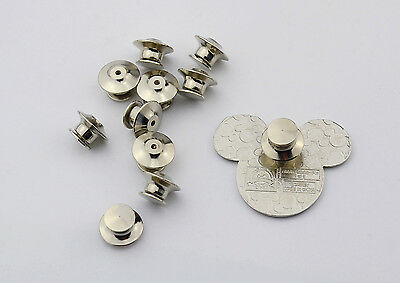 10 Low Profile Pin Keepers/Locking Pin backs-No Tools Required- Best Available