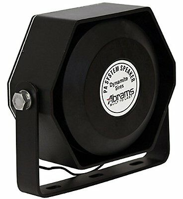 NEW Abrams Compact 100 Watt Siren Speaker Capable Ultra Slim Low Profile