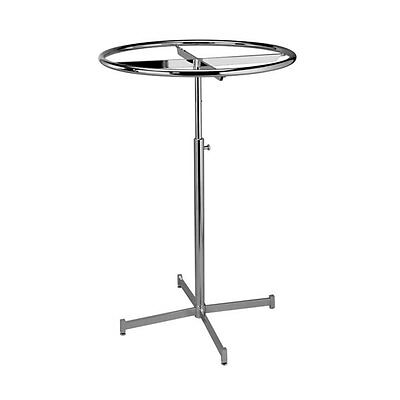 """36"""" Diamter Revolving Round Rack Chrome Adjusts From 52"""" To 72"""" Every 5"""""""