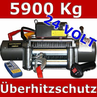 Winch Electric Winch 5900Kg 24V 24 Volt Motor winch Radio remote control LORRY