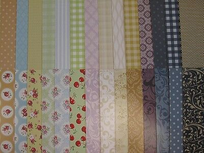 5 x Patterned Backing Card A3 300gsm 2-Sided 14 Designs to choose Cardmaking