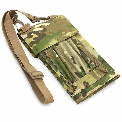 Bulldog Military Army Hiking Cadet Field Folding Map Case Cover Pouch Holder MTP