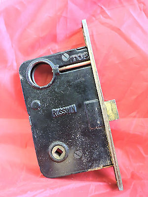 Large Antique Victorian Russell Erwin Entry Mortise Lock Brass Door Hardware Old