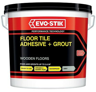 Evo Stik Tile A Floor Flexible Adhesive & Grout for Wooden Floors 10L Cha...