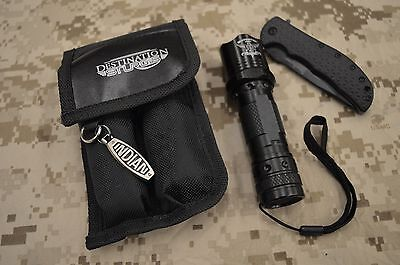 Sturgis Motorcycle Rally Survival Kit Kershaw Volt Light & Indian Key Chain K908