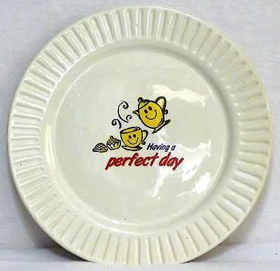 """""""Having A Perfect Day"""" CB Breakfast Makes Me Happy Collection Ceramic Plate 10"""""""