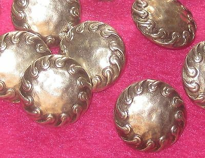 """FANCY Set 11 Vintage New SILVER Metal Hammered like Buttons 11/16"""""""
