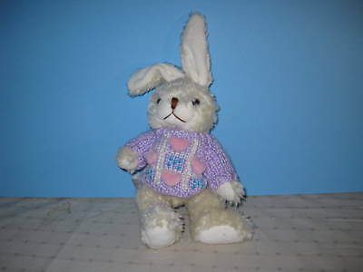 Hugfun Plush Bunny Rabbit with Lavender Sweater 1999