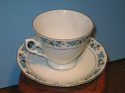 Floral Rimmed Pattern Made in China Tea Cup and Saucer