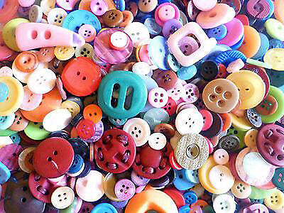 70 - 2000 Mixed Buttons Colours Variety Shapes Sizes Art Craft Sewing Design