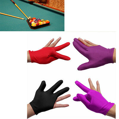5 x Snooker Nylon Billiard Pool Table Cue Shooters 3 Fingers Gloves Stretchable