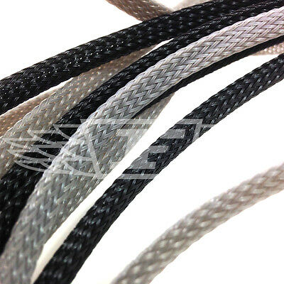 Braided Sleeving - Expandable Black Or Grey Braided Flexible Cable Sleeving 3:1