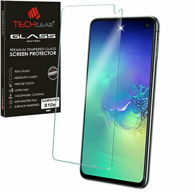Genuine TECHGEAR TEMPERED GLASS Screen Protector For Samsung Galaxy S10e