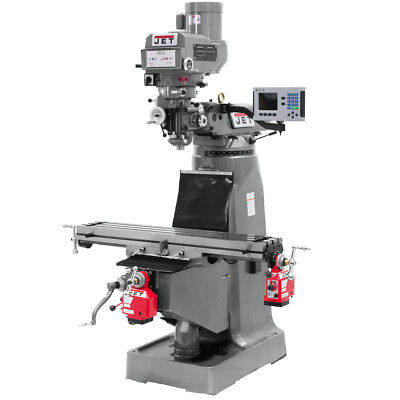Jet JTM-4VS Mill w/ ACU-RITE 200S DRO w/ X and Y-Axis Powerfeeds 690098